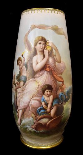 "Monumental Porcelain Vase 23""h"