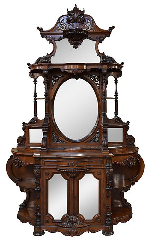 """Outstanding Rosewood Etagere Attr: Alexander Roux 116""""h x 75""""w"""