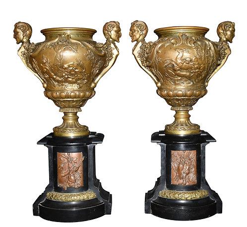 """Bronze Urns 20""""h"""