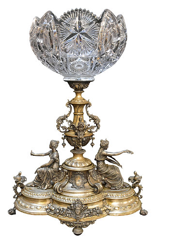 Victorian Figural Silver Plate Center Piece