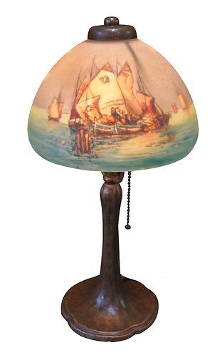 Signed Handel Boudoir Lamp