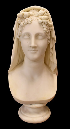 """Marble Lady Bust 23""""h"""