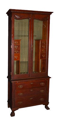 "Oak Gun Cabinet 81""h x 35""w"