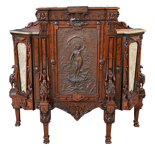 Rare, Renaissance Parlor Cabinet - Allen and Brothers - Philadelphia