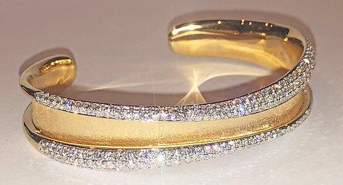 Diamond and Gold Bracelet 3.44 Cts