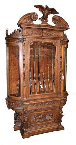 """The Finest Black Forest Gun Cabinet 107""""h x 61""""w"""