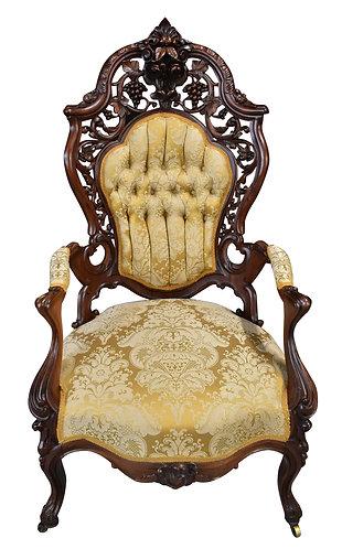 J&JW Meeks Arm Chair, Hawkins Pattern