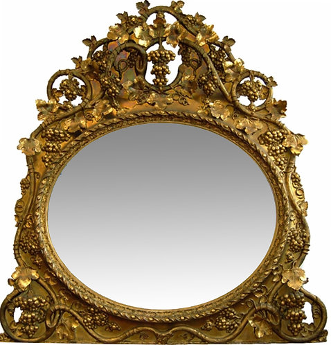 "Rococo Gold Gilt Over the Mantel Mirror 65""h x 61""w"