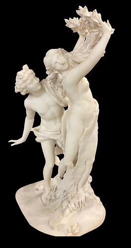 "Marble Statue of Daphne & Apollo 36""h"