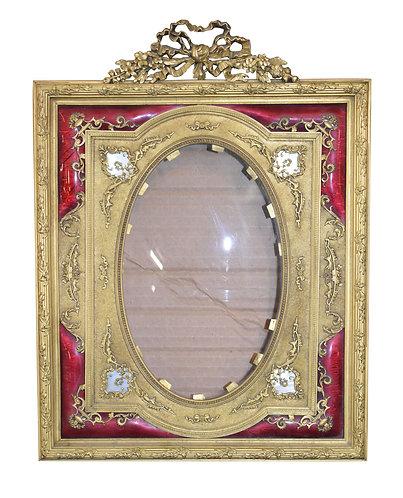 "Bronze & Enamel Frame 10""w x 13""h"