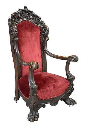 Carved Oak Arm Chair by Karpen Furniture Co.