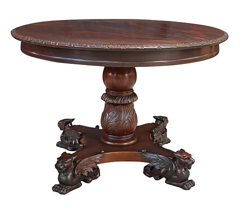 Mahogany Winged Griffin Center Table