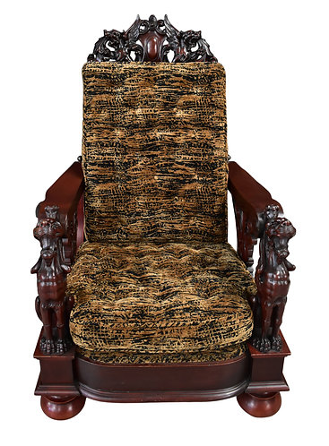 Mahogany Winged Griffin Morris Chair