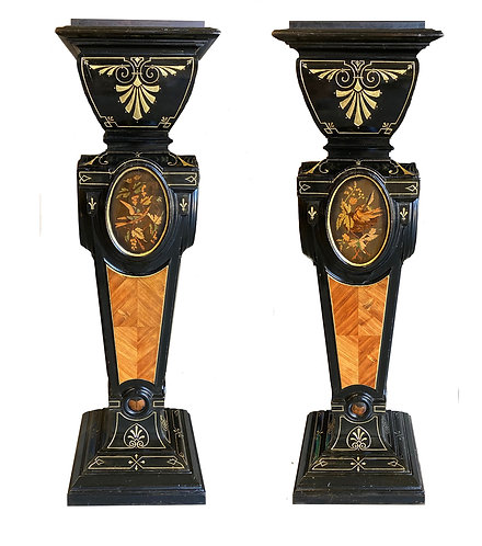 "Important Matched Pair of Renaissance Pedestals 47""h"