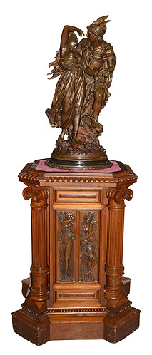 "Bronze Statue Perseus & Andromeda by Gregoire 37""h"