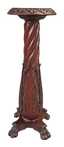 Carved Mahogany Pedestal