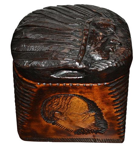 Carved Wood Indian Humidor