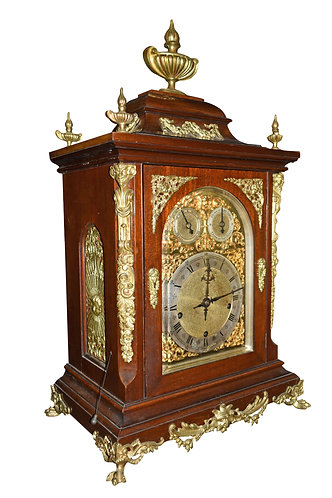 Heavy Bronze Mounted Bracket Clock