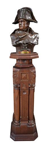 "Pedestal 49""h , Bronze Napoleon Bust 24""h"