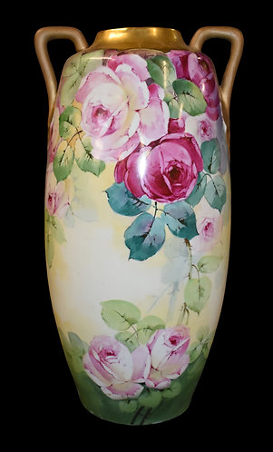 Hand painted Tall Vase