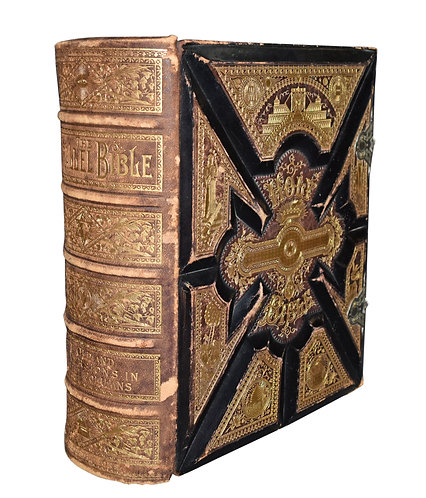 "Leather Bound Bible 12""h x 11""w"
