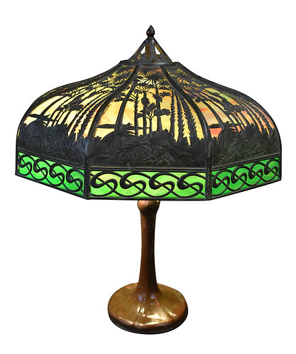 Handel Sunset Lamp w/ S Border 20""