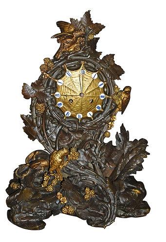 """Ornate Bronze Clock 20""""h"""