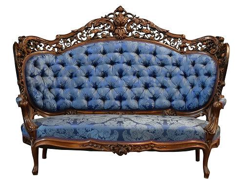 Fine Carved Rosewood Laminated Sofa