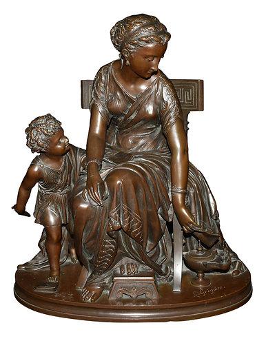 Bronze Sculpture Signed Gregoire