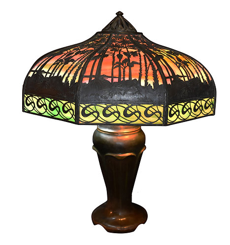 """Handel Sunset Lamp w/ S Border 22"""""""