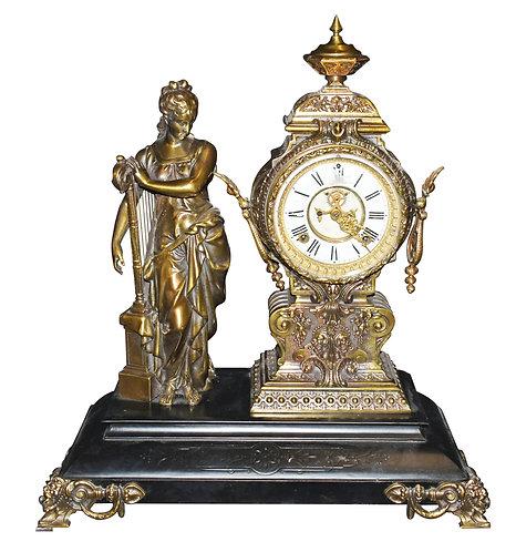"""Statue Clock 41""""h"""
