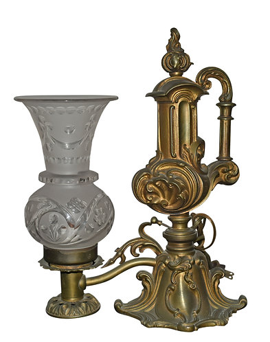 Early Oil Lamp Has Been Electrified