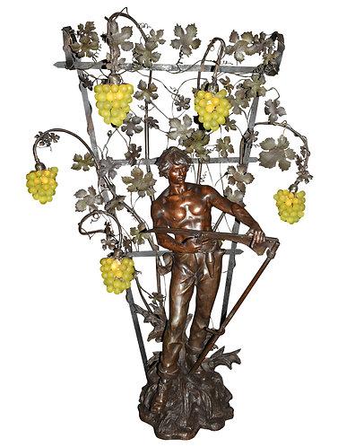 """Palatial Statue Lamp 55""""h"""