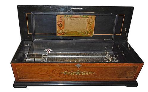 Rosewood Cylinder Music Box