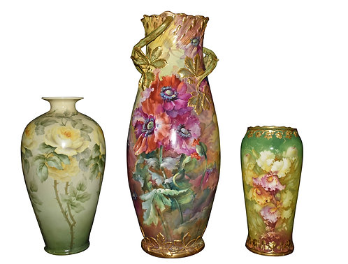 Hand Painted Austrian Vases