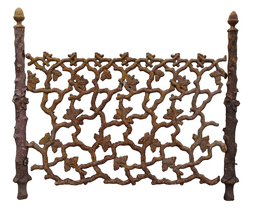 Over 100 Feet of Fabulous Cast Iron Fencing ... Best You Will Ever See