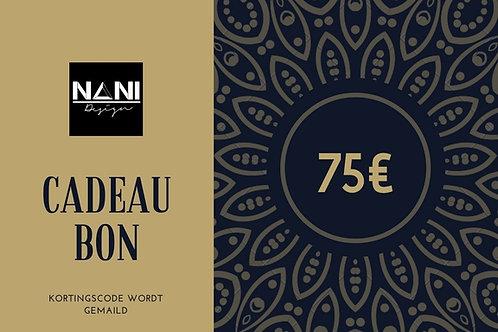 Cadeaubon 75€