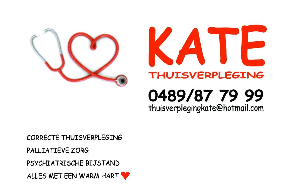 Logo en naamkaartje Kate