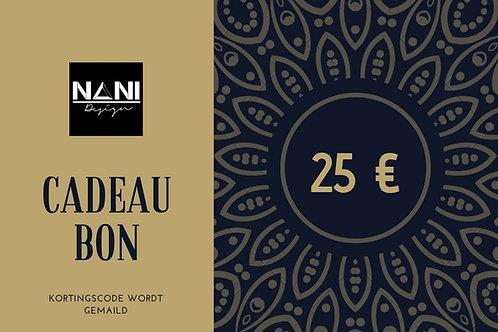 Cadeaubon 25€