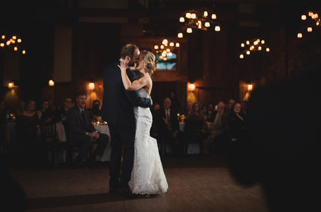 Bride and groom dance