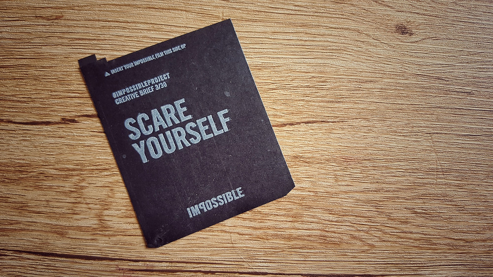 From the Impossible Project polaroid film insert, I keep this on my fridge.