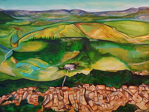 S.Tuscany no.3: View of Radicofani