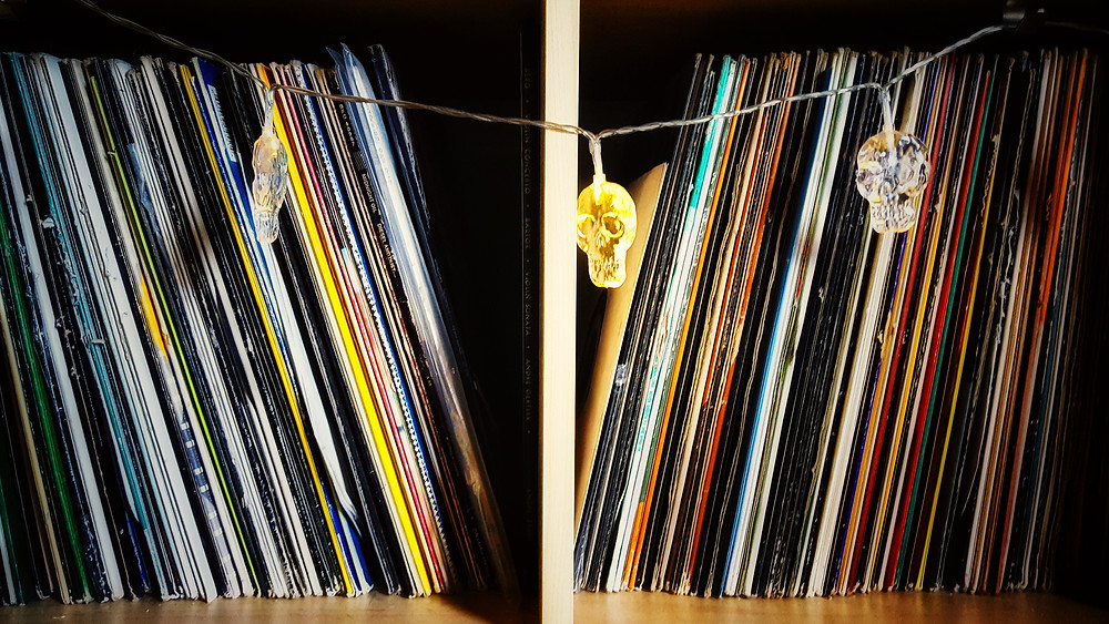 Part of our record collection. Though this post isn't about records—I just needed an image.