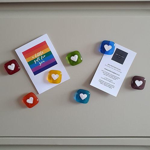 Rainbow Magnet Heart Set