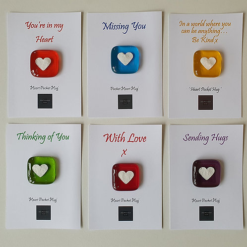 Heart Pocket Hug - Transparent Glass