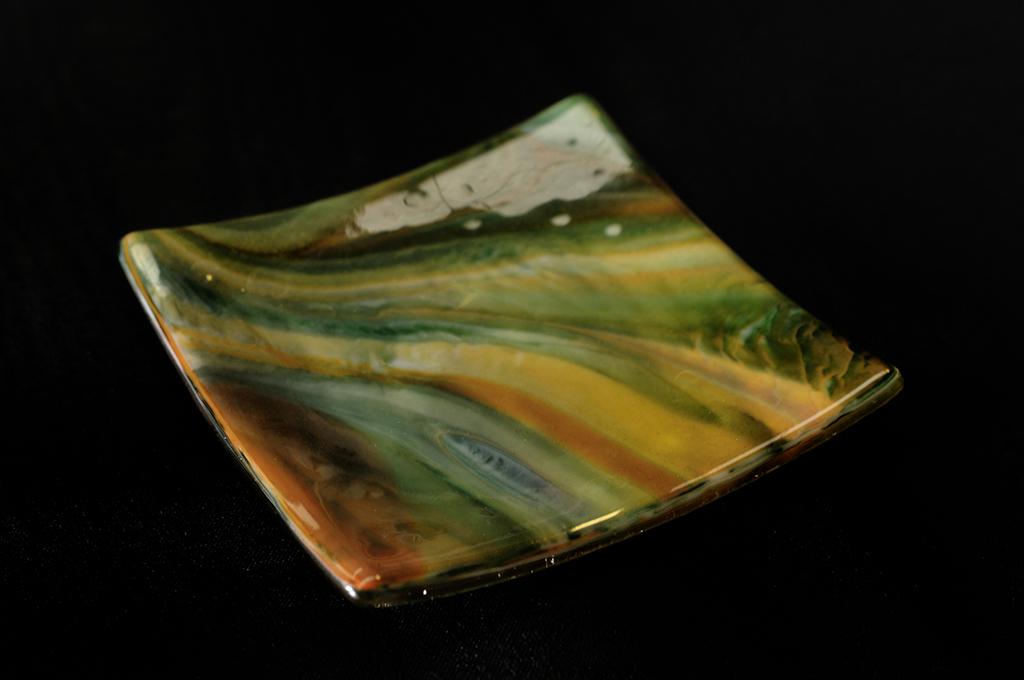 Jon Piccolo Glass Large Geology Platter