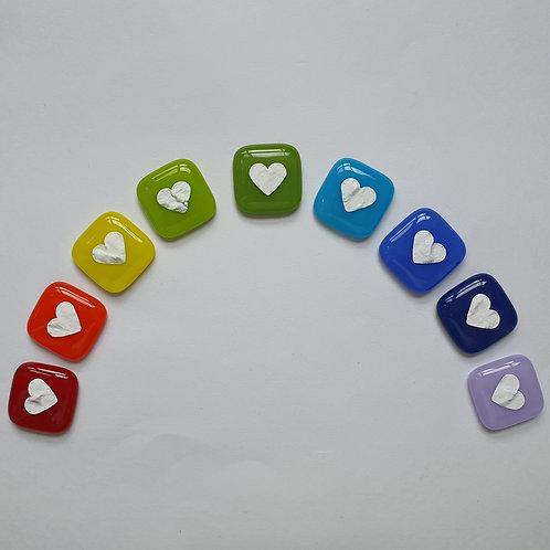Heart Pocket Hug - Opal Glass