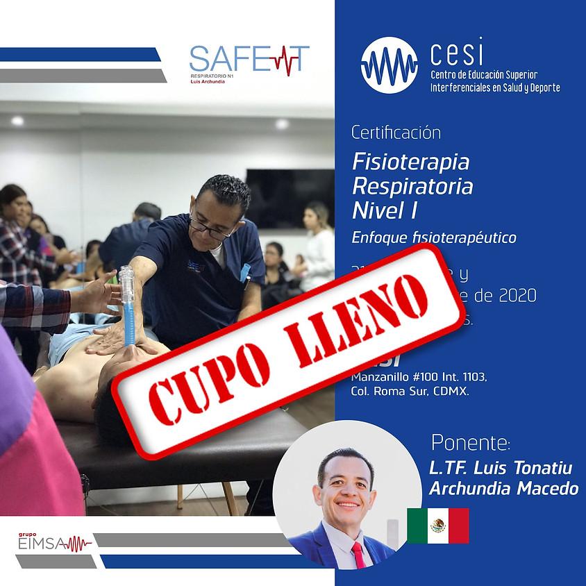 Certificación en Fisioterapia Respiratoria Nivel 1