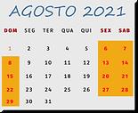 Calendário Festival Gastronômico de Saquarema - 2021