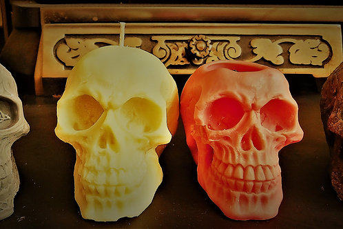 Large Skull Candle - Soya Wax